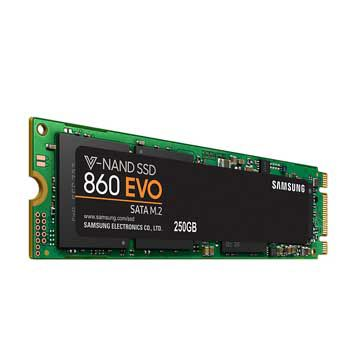 250GB Samsung M2 - 860EVO(MZ-N6E250BW)