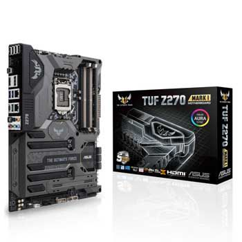 ASUS TUF Z270 MARK I (SK 1151) THE ULTIMATE FORCE Aura Sync RGB LEDs Thermal Armor protective 5 Year warranty