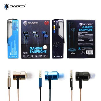 HEADPHONE SADES WINGS - SA 609 (GAMING EARPHONE )