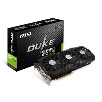 8GB MSI GTX 1070 DUKE OC - 3Fan