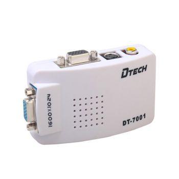 Thiết bị chuyển PC VGA->TV DTECH 7001