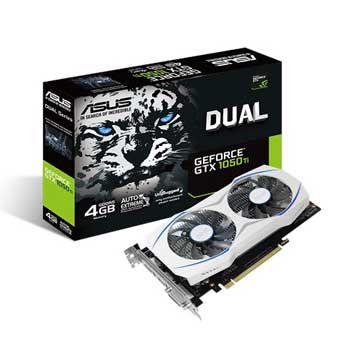 4GB ASUS DUAL-GTX1050Ti-O4G (DUAL FAN)