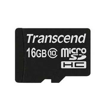 MICRO-SD 16GB TRANSCEND CLASS 10