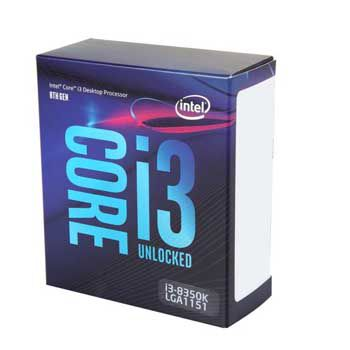 Intel Coffee lake i3 8350K(4.0GHz) Chỉ hỗ trợ Windows 10