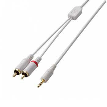 Dây cáp audio ELECOM AVD-IPCLR2WH Trắng