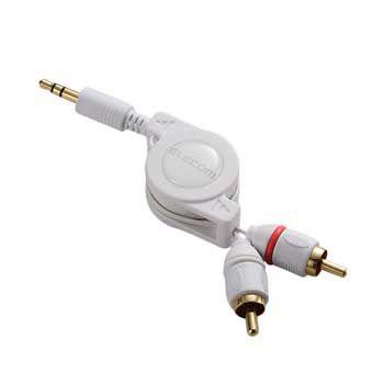 Cable LOA 2 Jack 3.5mm Elecom AVD-IPCLR2WH (Trắng)